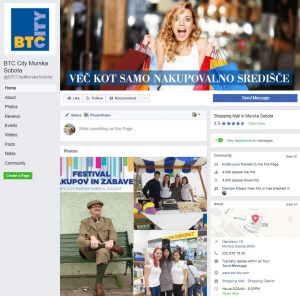 Facebook BTC City Murska Sobota
