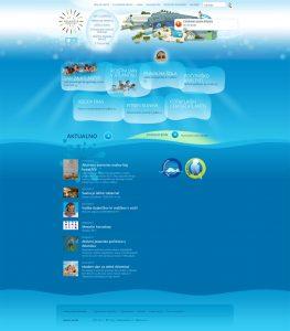 Spletna stran Vodno mesto Atlantis / Atlantis Water Park webpage