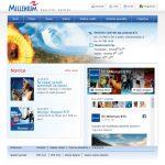 Spletna stran ŠC Millenium / Millenium Sport Centre webpage